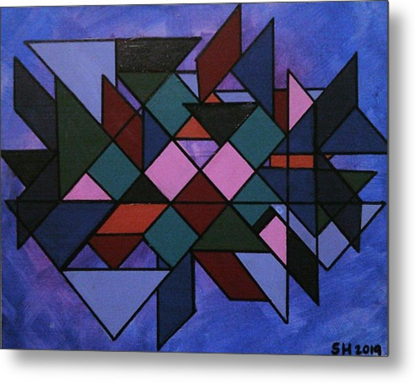 Metal Print featuring the painting  Tangram Art Number 3  by Samantha Galactica