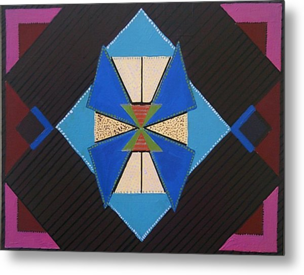 Metal Print featuring the painting Tangram Geometric #1 by Samantha Galactica