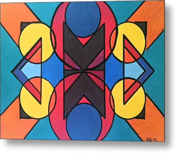 Metal Print featuring the painting Tangram No. 9 Kaleidoscope by Samantha Galactica