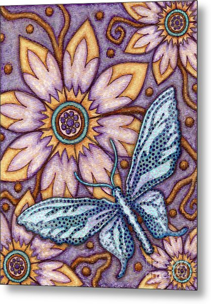 Tapestry Butterfly Metal Print