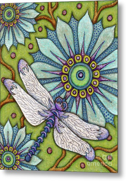 Tapestry Dragonfly Metal Print