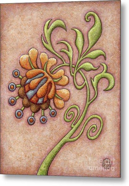 Tapestry Flower 10 Metal Print