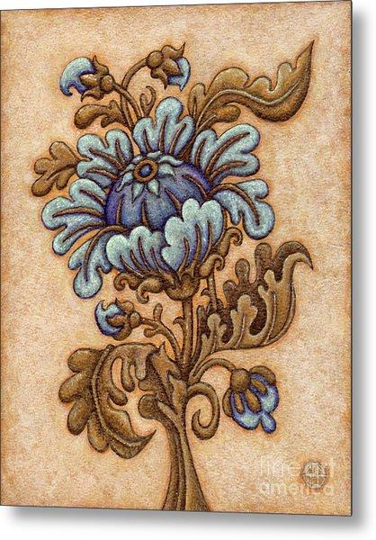 Tapestry Flower 5 Metal Print