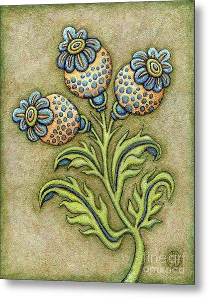 Tapestry Flower 6 Metal Print