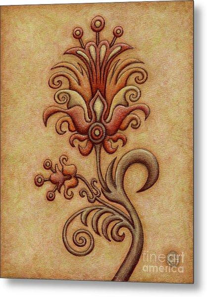 Tapestry Flower 7 Metal Print