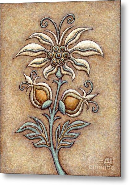 Tapestry Flower 9 Metal Print