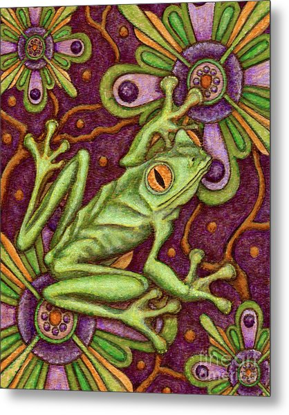 Tapestry Frog Metal Print