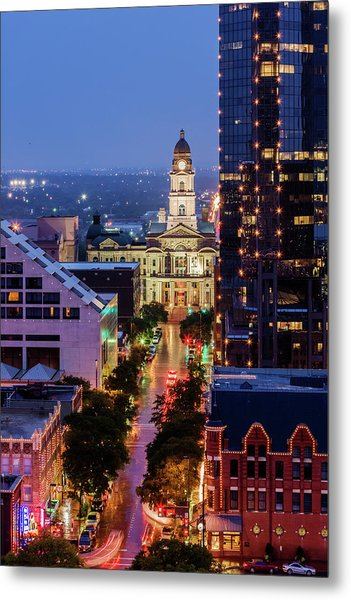 Tarrant County Courthouse Looking Down Metal Print