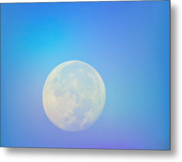 Taurus Almost Full Moon Blend Metal Print