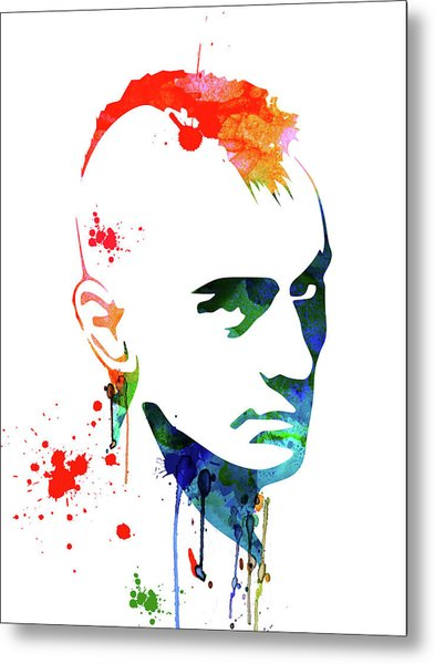 Taxi Driver Watercolor Metal Print
