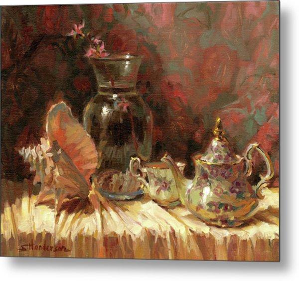Tea By The Sea Metal Print