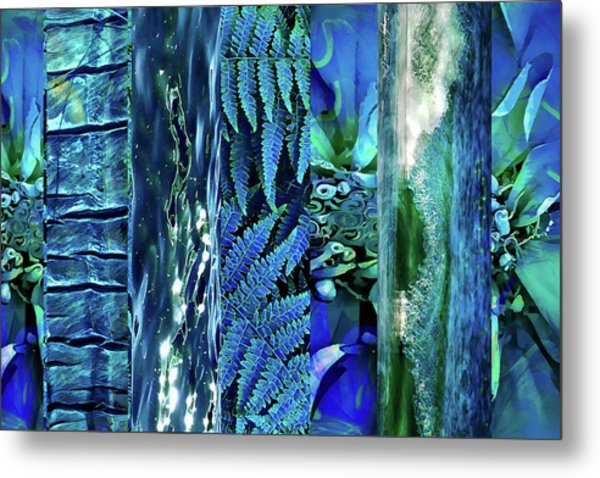 Teal Abstract Metal Print