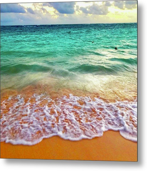 Teal Shore  Metal Print