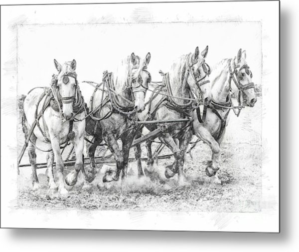 Team Work 2 Metal Print