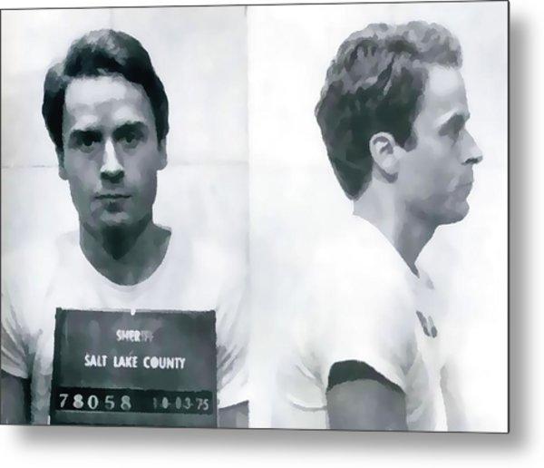 Ted Bundy Mug Shot Metal Print