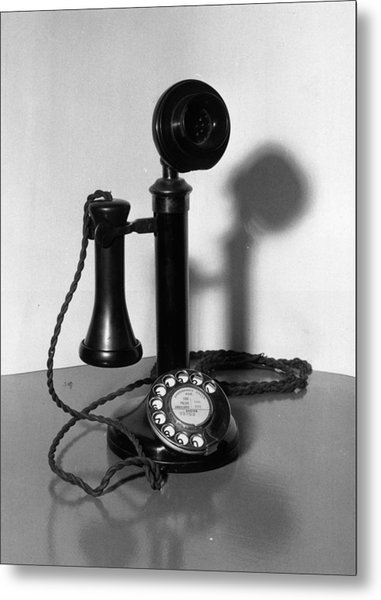 Telephone Metal Print by Fox Photos