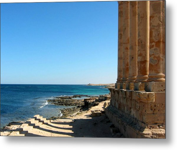 Temple Of Isis, Sabratha, Libya Metal Print by Joe & Clair Carnegie / Libyan Soup