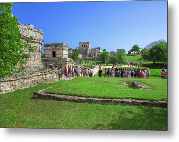 Temples Of Tulum Metal Print