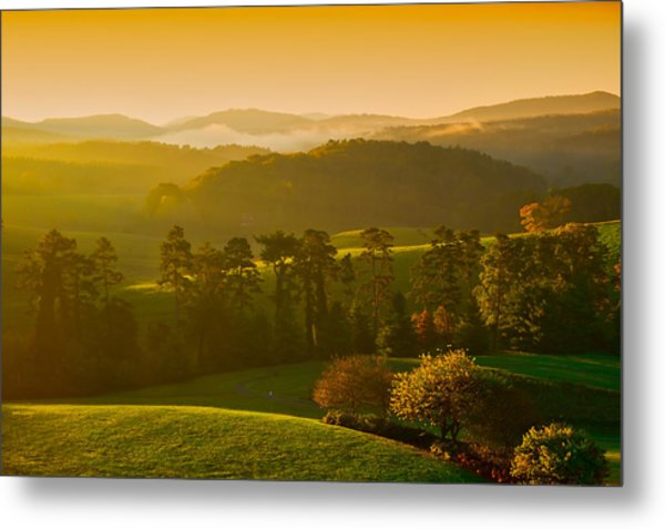 Smokey Mountain Sunrise Metal Print