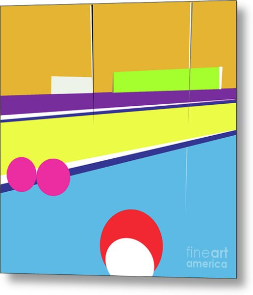 Tennis In Abstraction Metal Print
