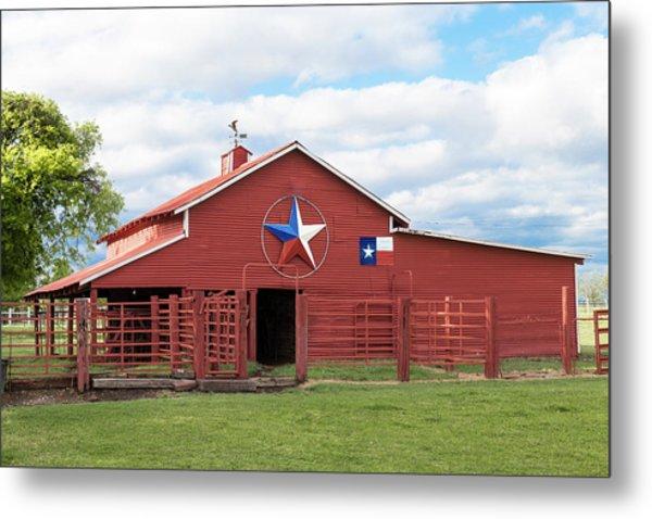 Texas Red Barn Metal Print