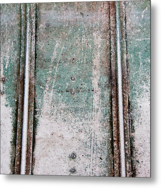 Texture Found On The Docks Metal Print