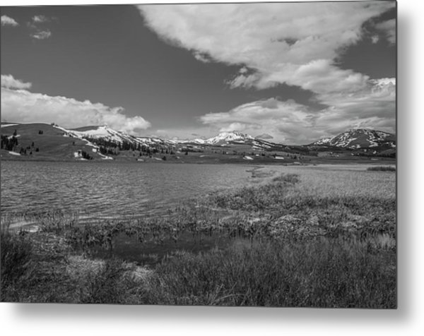 Metal Print featuring the photograph Tha Gallitin Mountains In Black And White by Matthew Irvin