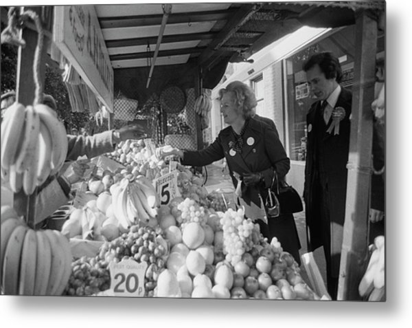 Thatcher Shops At Street Market Metal Print