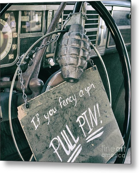 The Art Of Pulling Pins Metal Print by Steven Digman