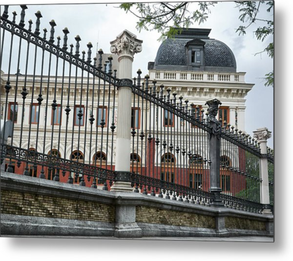 The Back Of The Ministry Of Agriculture Building In Madrid Metal Print