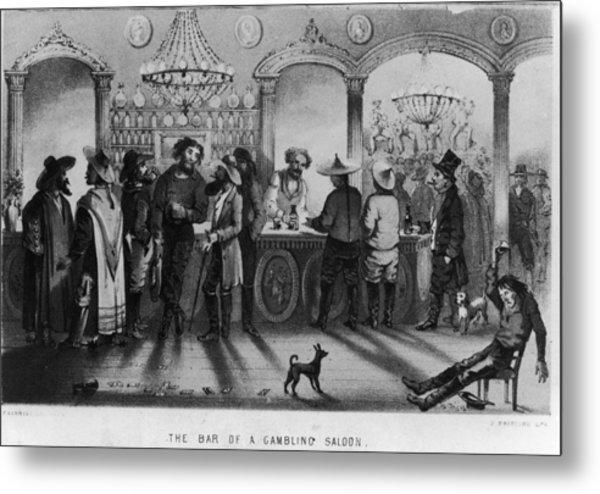 The Bar Of A Gambling Saloon Metal Print by Fotosearch