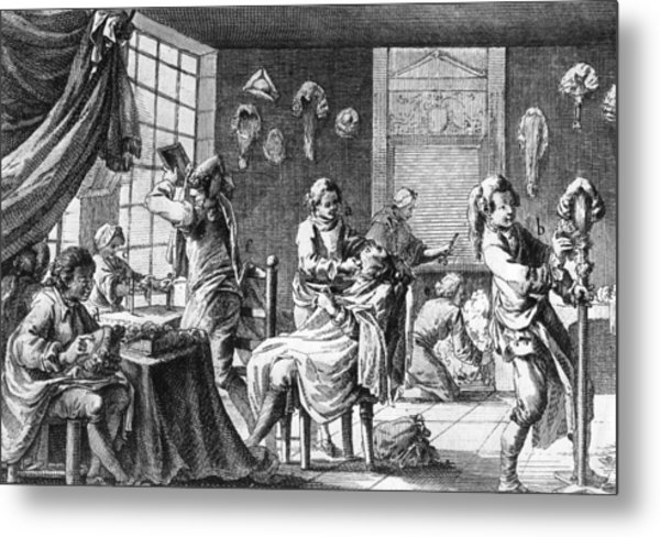 The Barber Metal Print by Hulton Archive
