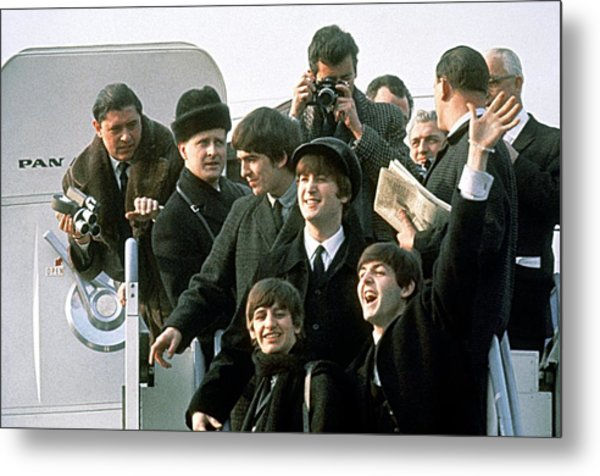 The Beatles Are Coming Metal Print