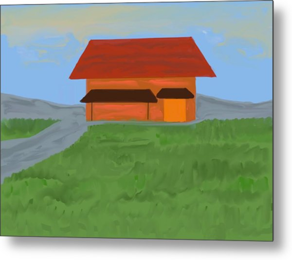 The Best Country Road Diner Metal Print