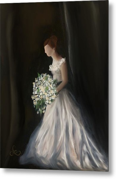 Metal Print featuring the painting The Big Day by Fe Jones