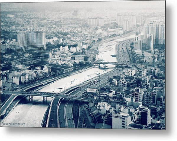 The Bisection Of Saigon Metal Print