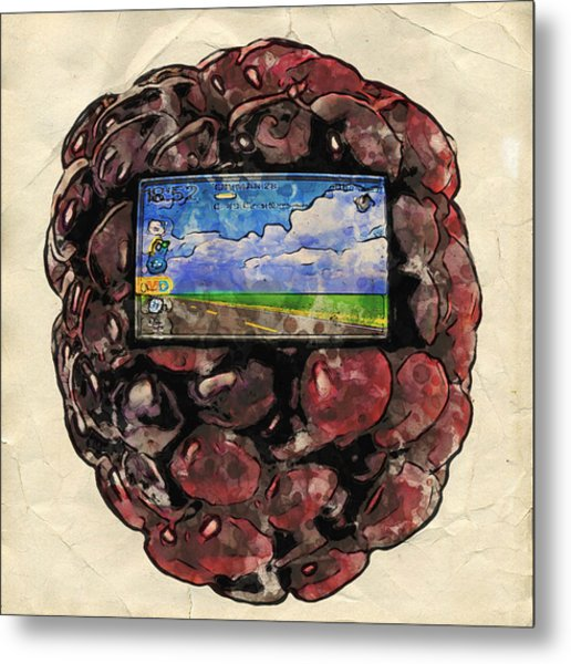 The Blackberry Concept Metal Print