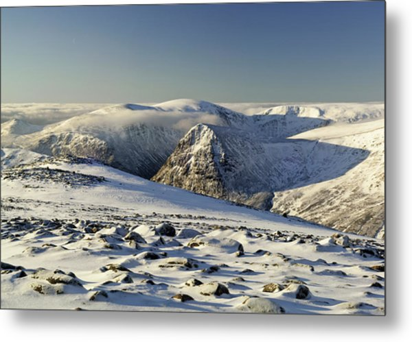The Cairngorms In Winter Metal Print by Duncan Shaw