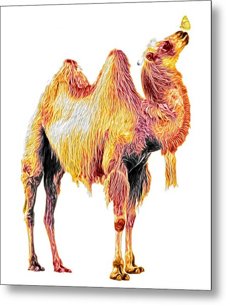 The Camel And The Butterfly - Friendship Metal Print