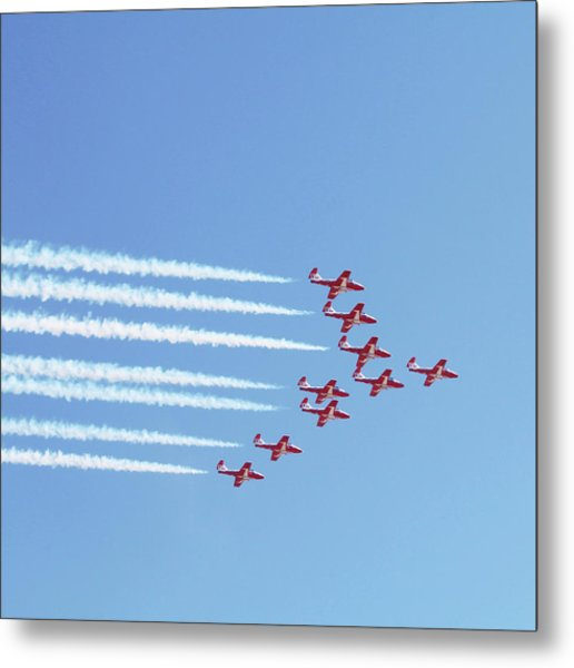 The Canadian Snowbirds Metal Print