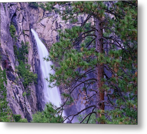The Cascades From Yosemite National Metal Print by Tim Fitzharris/ Minden Pictures