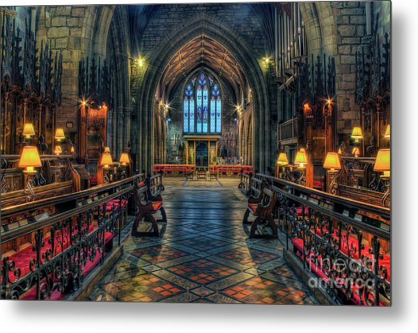 The Cathedral Church Of Saints Asaph And Cyndeym Metal Print