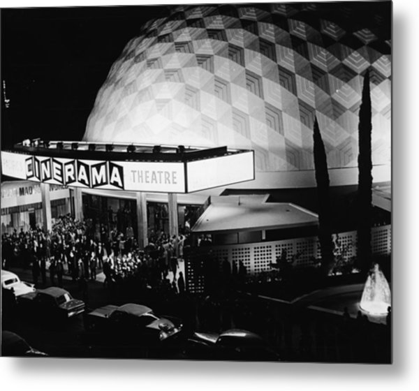 The Cinerama Dome Theatre In Hollywood Metal Print