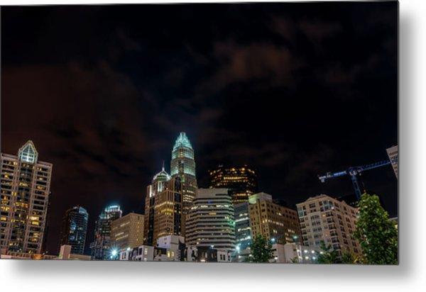 The City Lights Up Metal Print