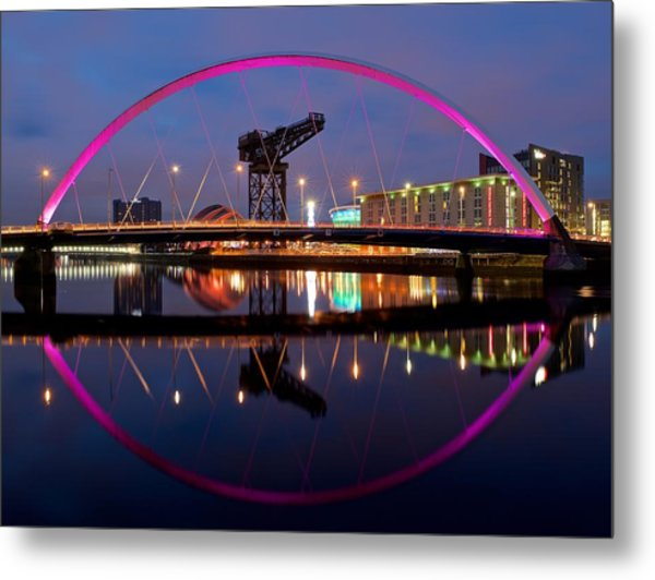 Metal Print featuring the photograph The Clyde Arc Reflected by Stephen Taylor