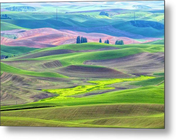 The Color Palette Of The Palouse Metal Print