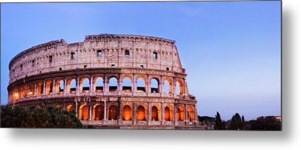 The Colosseum In Rome Italy Metal Print by Deejpilot