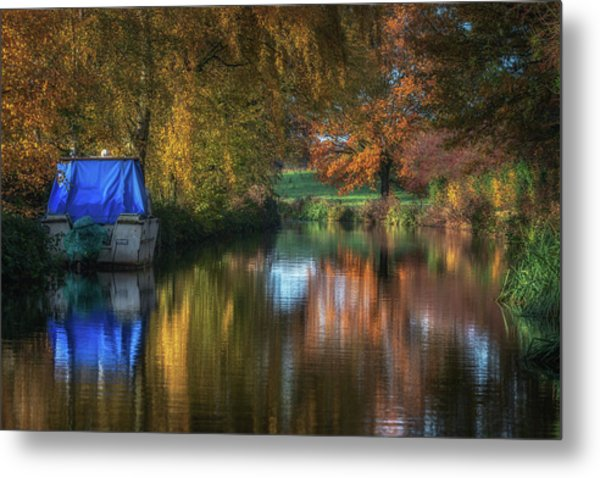 The Colours Of Autumn, Reflected Metal Print