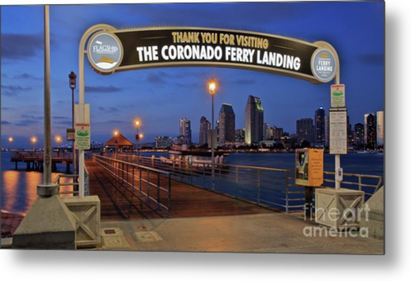 The Coronado Ferry Landing Metal Print