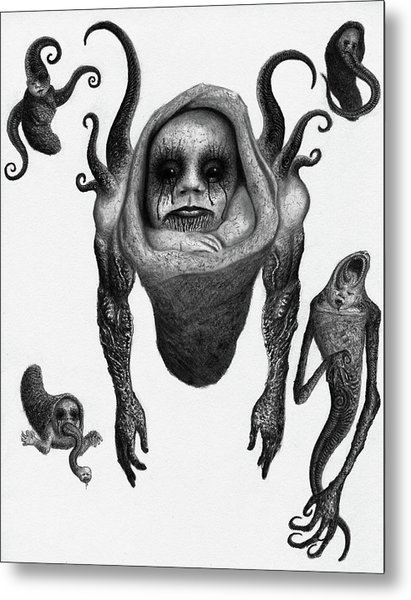 The Corrupted Demon Profile - Artwork Metal Print